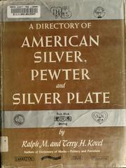Cover of: A directory of American silver, pewter, and silver plate