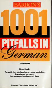 Cover of: 1001 Pitfalls in German