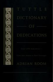Cover of: Tuttle dictionary of dedications