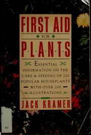 Cover of: First Aid Plants | Jane Kramer