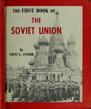 Cover of: The first book of the Soviet Union