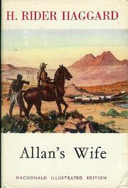 Cover of: Allan's Wife