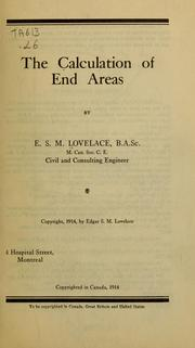 Cover of: The calculation of end areas