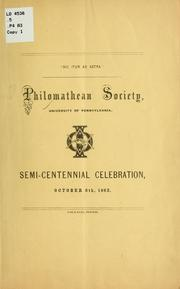 Cover of: Address delivered before the Philomathean society of the University of Pennsylvania