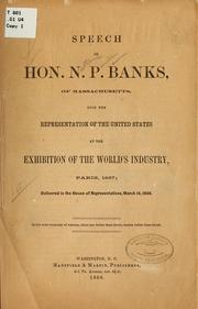 Cover of: Speech of Hon. N.P. Banks ...