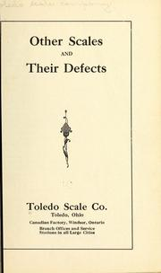 Cover of: Other scales and their defects