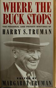 Cover of: Where the buck stops