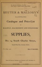 Cover of: Reuter & Mallory's Illustrated catalogue and price-list of railway, machinists' and engineers' supplies...