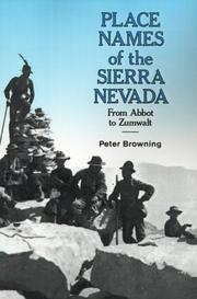 Cover of: Place names of the Sierra Nevada