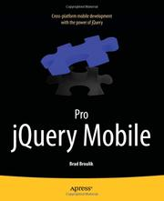 Cover of: Pro jQuery Mobile