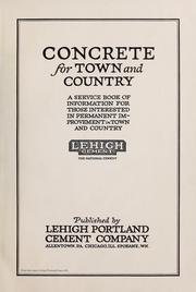 Cover of: Concrete for town and country