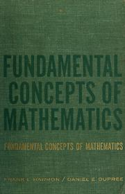 Cover of: Fundamental concepts of mathematics | Frank L. Harmon