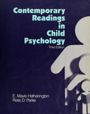 Cover of: Contemporary readings in child psychology |