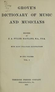 Cover of: Dictionary of music and musicians