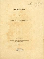 Cover of: Memorials of the Haliburtons