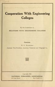 Cover of: Cooperation with engineering colleges