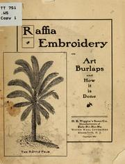 Cover of: Raffia embroidery on art burlaps and how it is done