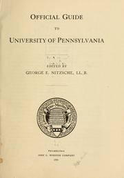 Cover of: Official guide to University of Pennsylvania