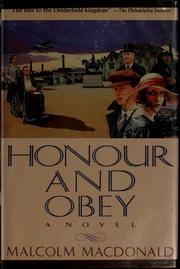 Cover of: Honour and obey