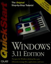 Cover of: Windows QuickStart, 3.11edition
