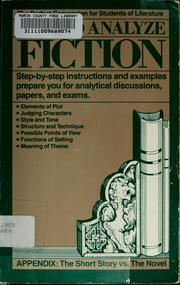 Cover of: How to analyze fiction