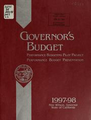 Cover of: Governor's budget