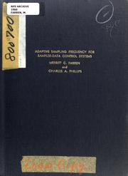 Cover of: Adaptive sampling frequency for sampled-data control systems