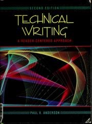 Cover of: Technical writing | Paul V. Anderson