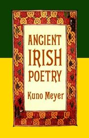 Cover of: Ancient Irish poetry |