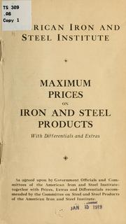 Cover of: Maximum prices on iron and steel products