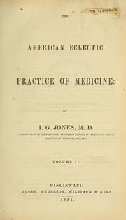 Cover of: The American eclectic practice of medicine