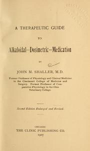 Cover of: A therapeutic guide to alkaloidal-dosimetric-medication