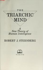 Cover of: The triarchic mind | Robert J. Sternberg