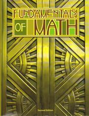 Cover of: Fundamentals of Math