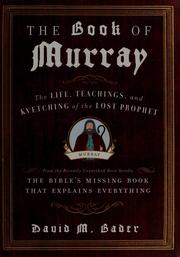 Cover of: The book of murray | David M. Bader