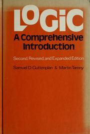 Cover of: Logic: a comprehensive introduction