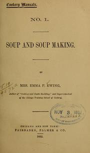 Cover of: Soup and soup making