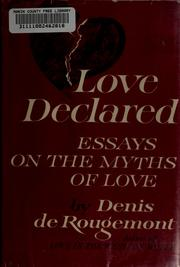 Cover of: Love declared