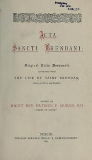 Cover of: Acta Sancti Brendani