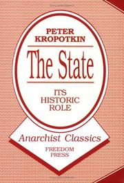 Cover of: The state, its historic role