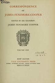 Cover of: Correspondence: Edited by his grandson, James Fenimore Cooper.