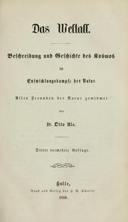 Cover of: Das Weltall