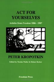 Cover of: Act for yourselves