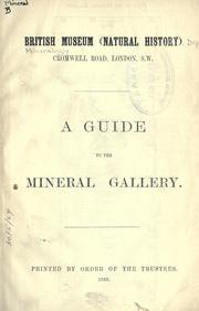 Cover of: A guide to the mineral gallery