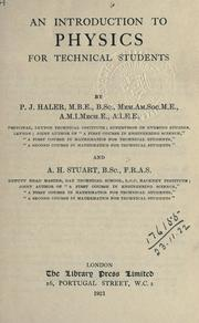 Cover of: An introduction to physics