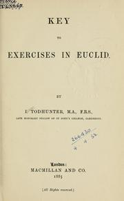 Cover of: Key to Exercises in Euclid
