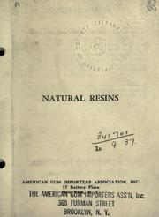 Cover of: Natural resins