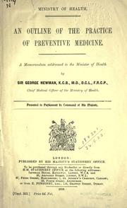 Cover of: An outline of the practice of preventive medicine
