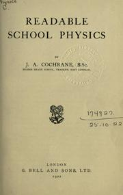 Cover of: Readable school physics