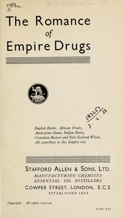 Cover of: The romance of Empire drugs | Stafford Allen [and] Sons, Ltd